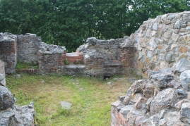 Kuusiston linnan rauniot Kaarinassa.